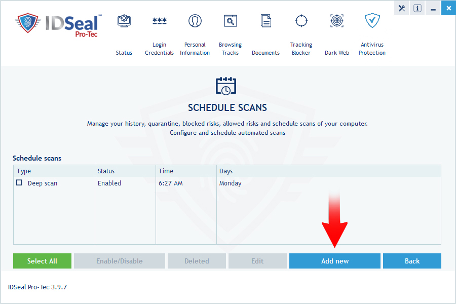 image antivirus scheduled scan 2