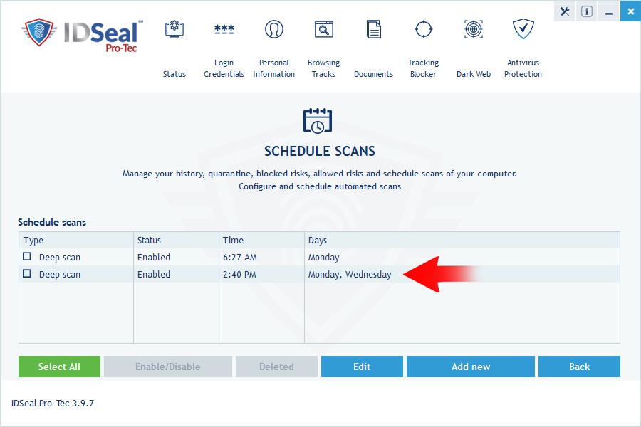 image antivirus scheduled scan 4