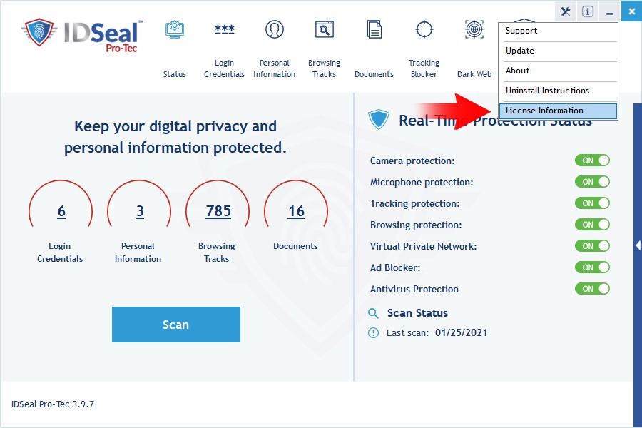 image find license information